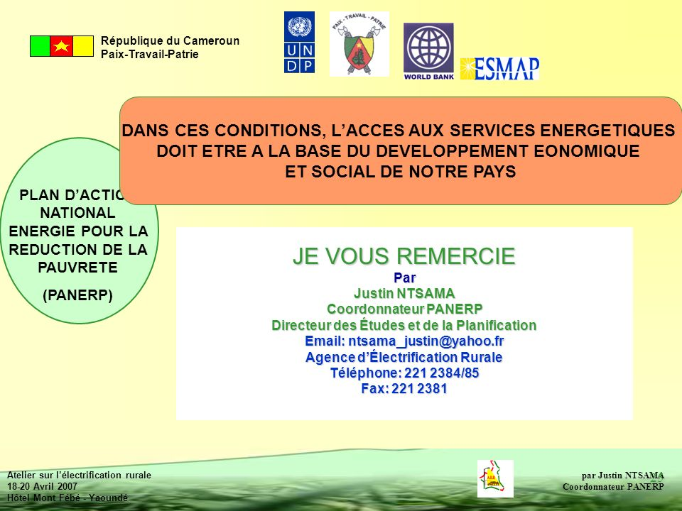 DANS CES CONDITIONS, L'ACCES AUX SERVICES ENERGETIQUES