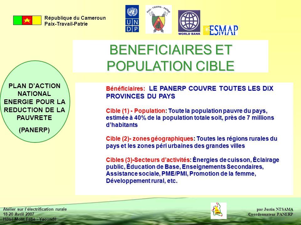 BENEFICIAIRES ET POPULATION CIBLE