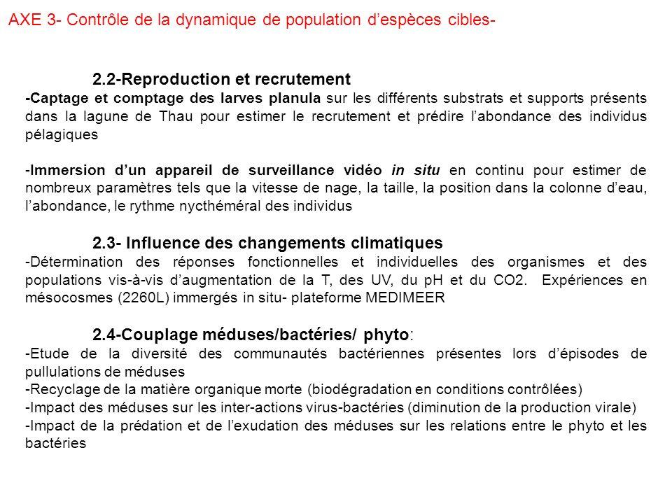 AXE 3- Contrôle de la dynamique de population d'espèces cibles-