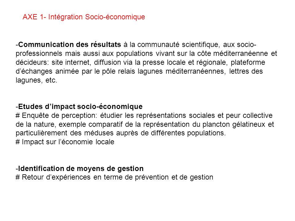 AXE 1- Intégration Socio-économique