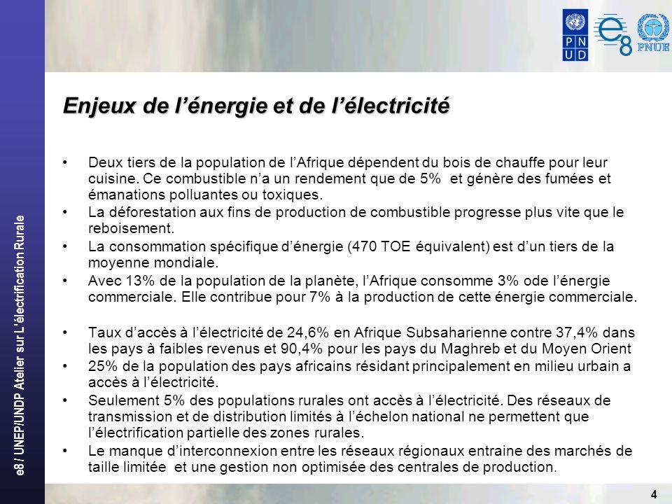 Enjeux de l'énergie et de l'électricité