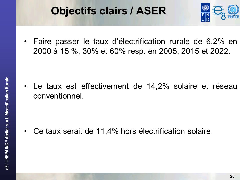 Objectifs clairs / ASER
