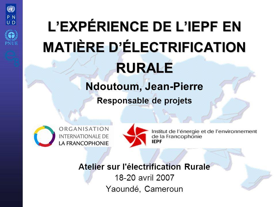 Atelier sur l électrification Rurale