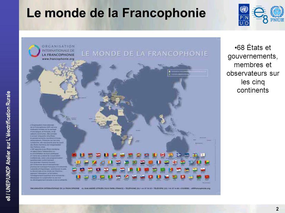 Le monde de la Francophonie