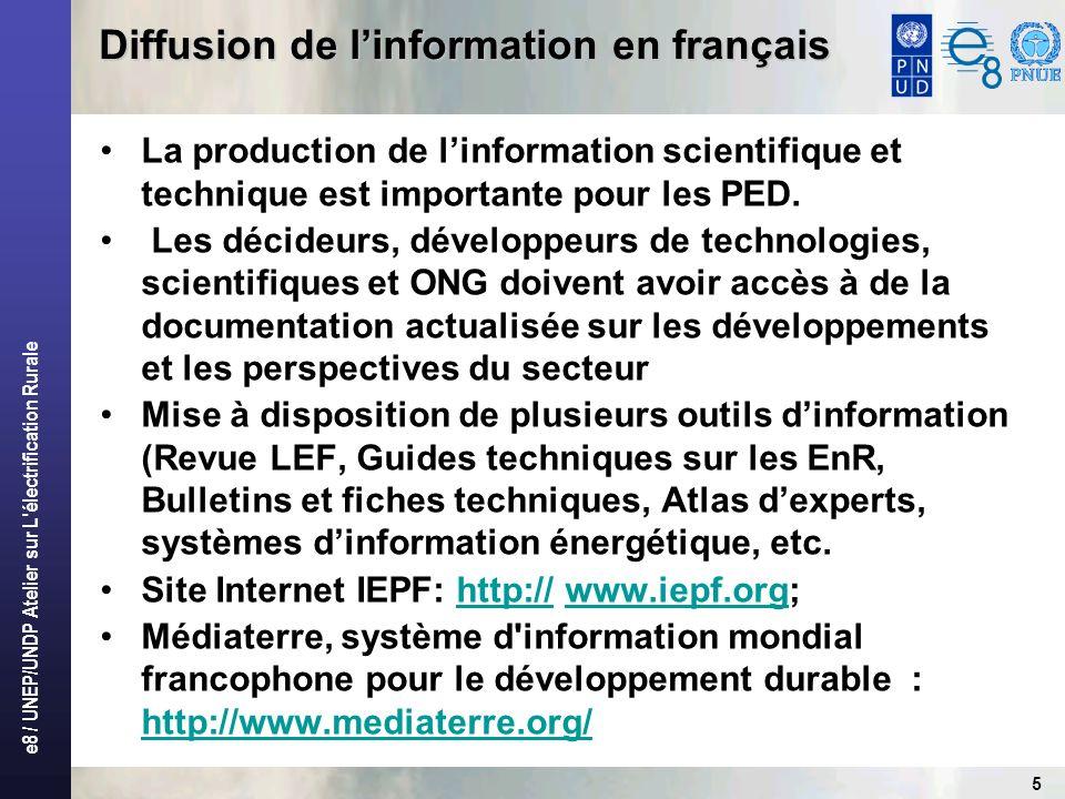 Diffusion de l'information en français