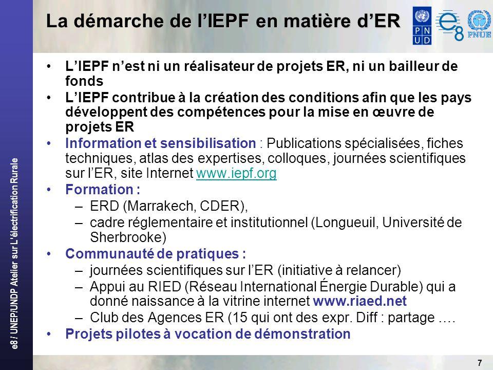 La démarche de l'IEPF en matière d'ER