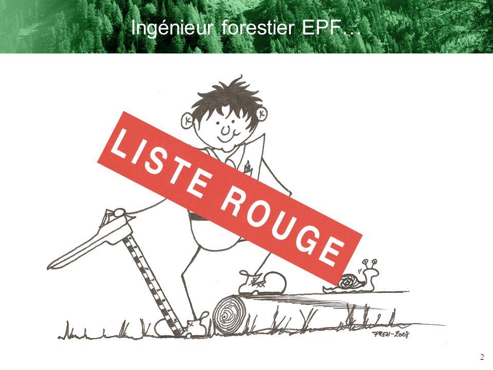 Ingénieur forestier EPF…