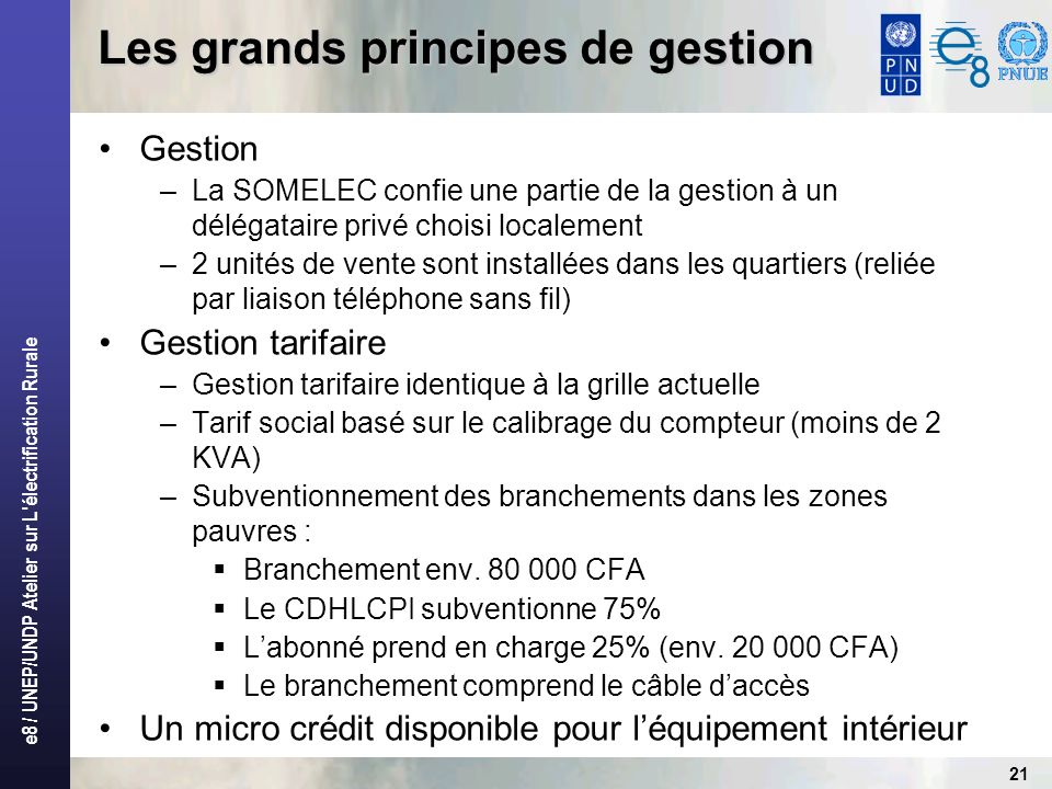 Les grands principes de gestion