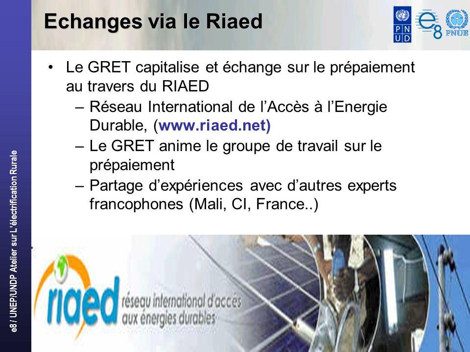 Echanges via le Riaed Le GRET capitalise et échange sur le prépaiement au travers du RIAED.