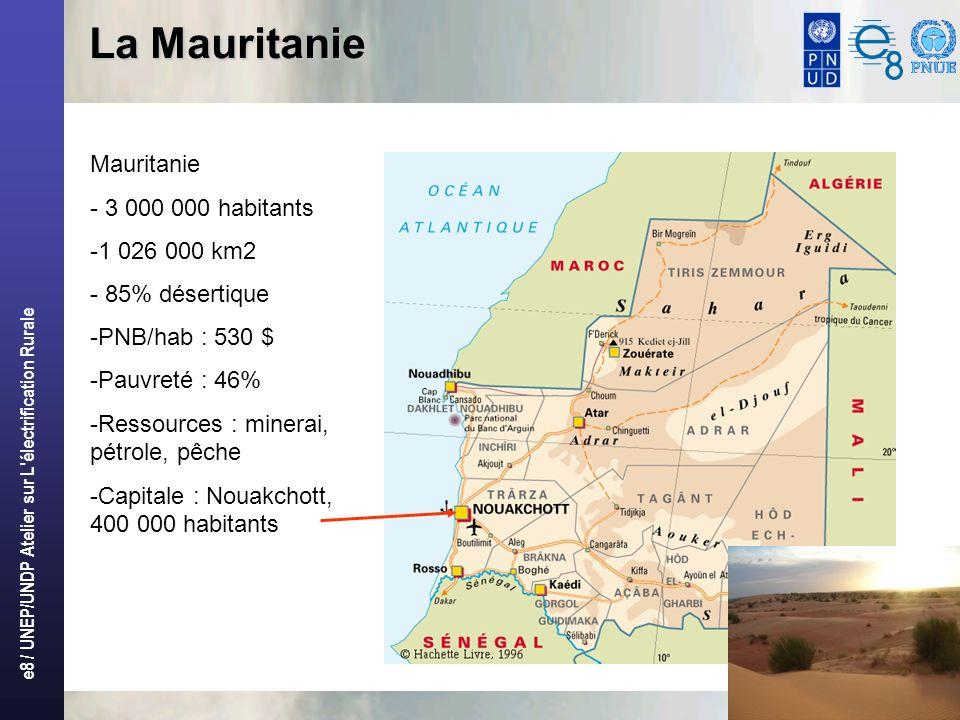 La Mauritanie Mauritanie - 3 000 000 habitants 1 026 000 km2