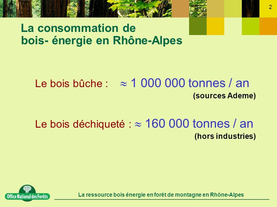 La consommation de bois- énergie en Rhône-Alpes