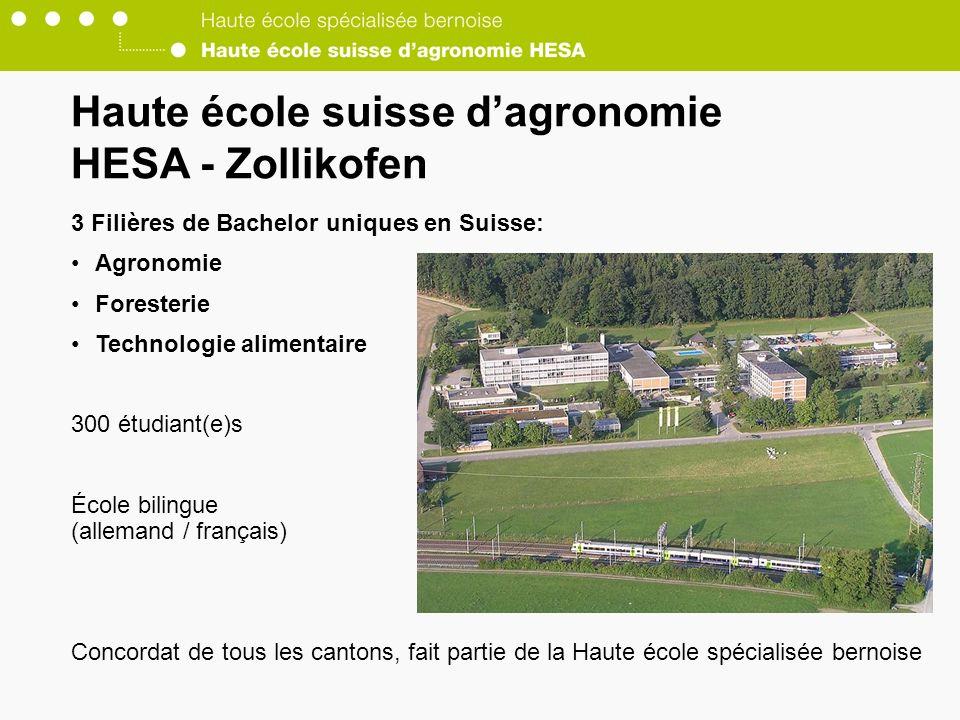 Haute école suisse d'agronomie HESA - Zollikofen