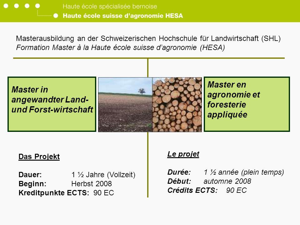 Master in angewandter Land- und Forst-wirtschaft