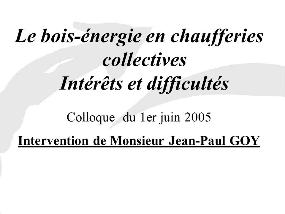 Le bois-énergie en chaufferies collectives Intérêts et difficultés