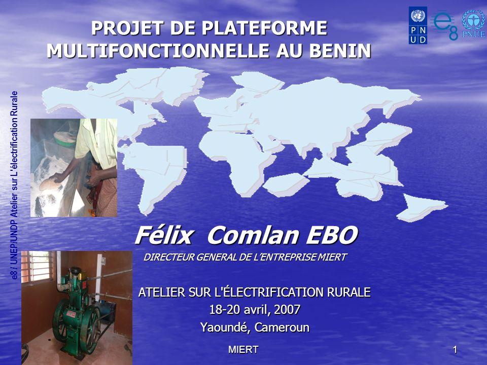 PROJET DE PLATEFORME MULTIFONCTIONNELLE AU BENIN