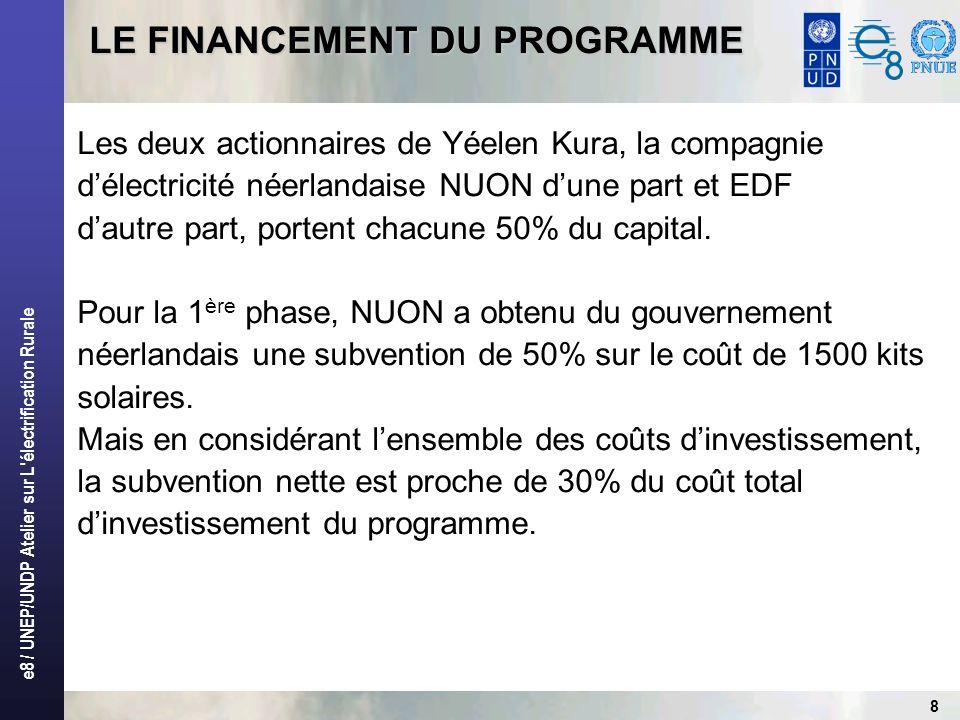 LE FINANCEMENT DU PROGRAMME