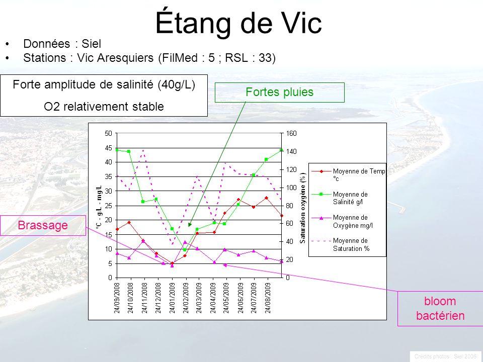 Forte amplitude de salinité (40g/L)