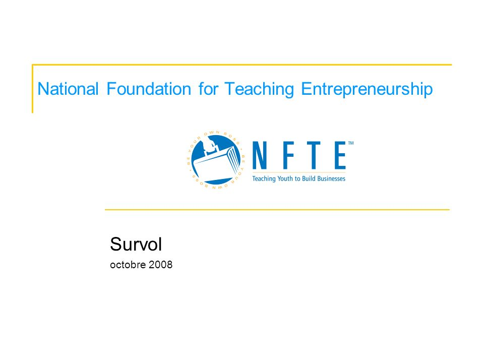 National Foundation for Teaching Entrepreneurship