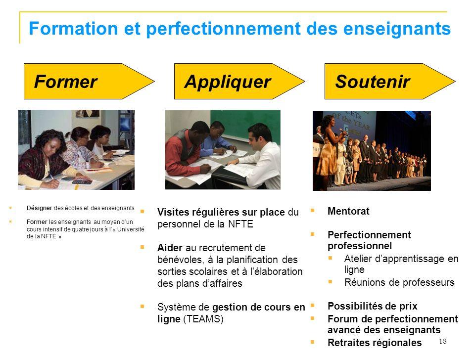 Formation et perfectionnement des enseignants