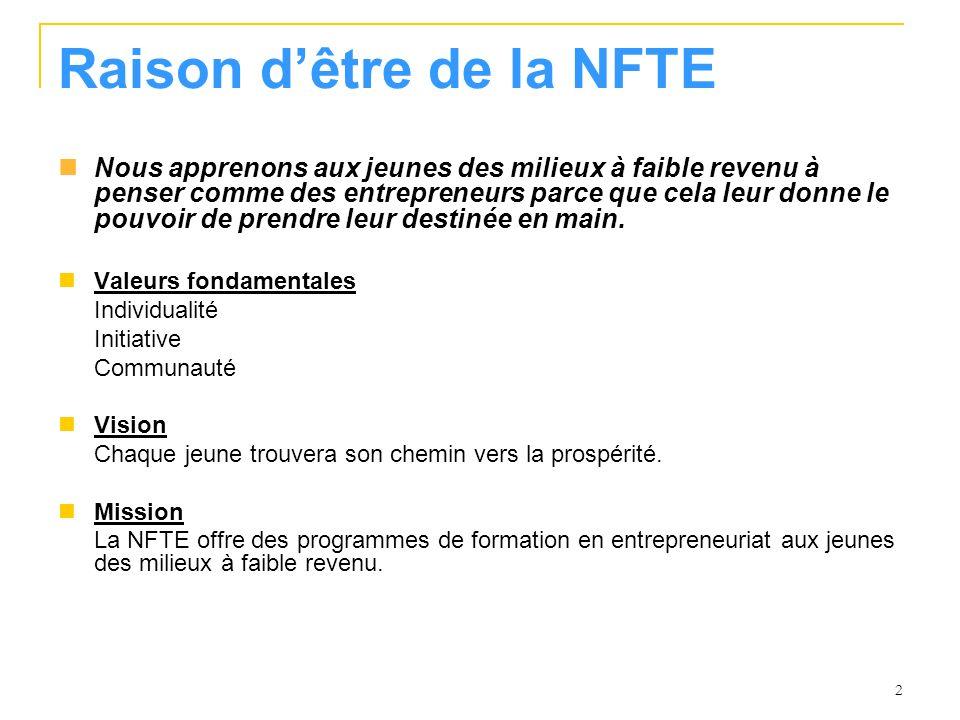 Raison d'être de la NFTE
