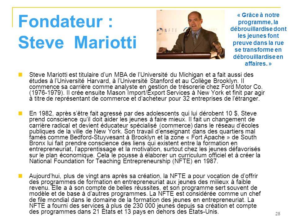 Fondateur : Steve Mariotti