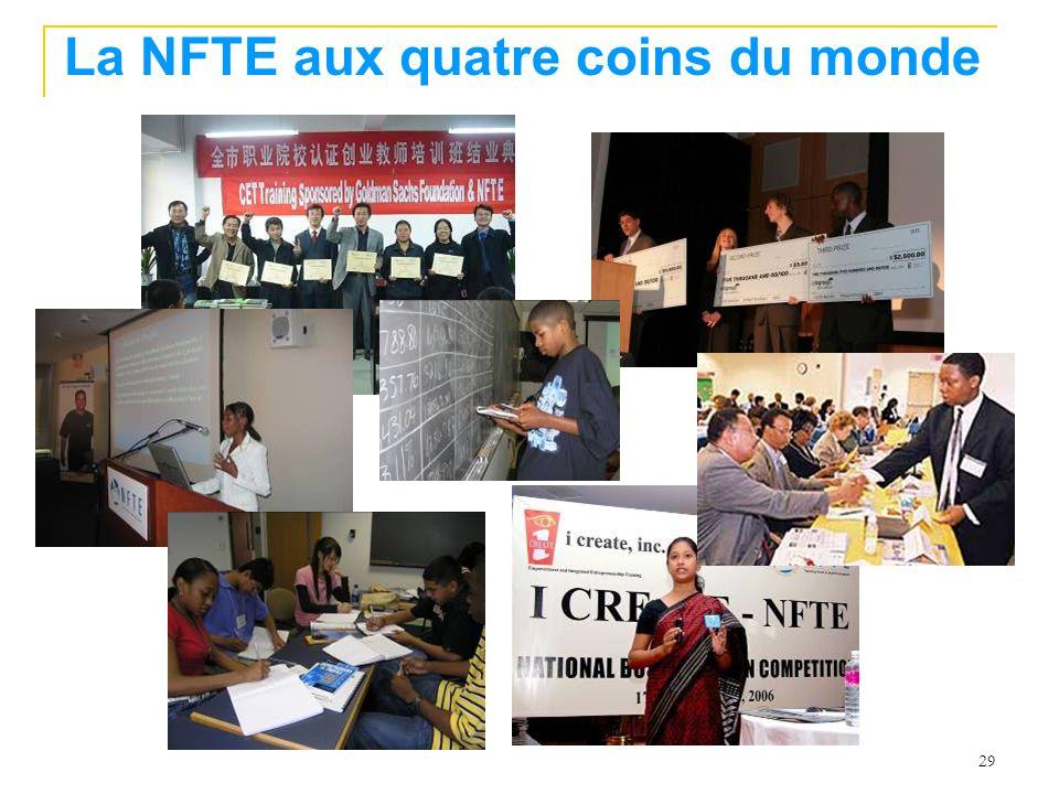 La NFTE aux quatre coins du monde