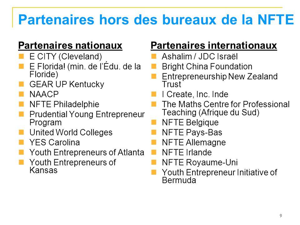 Partenaires hors des bureaux de la NFTE