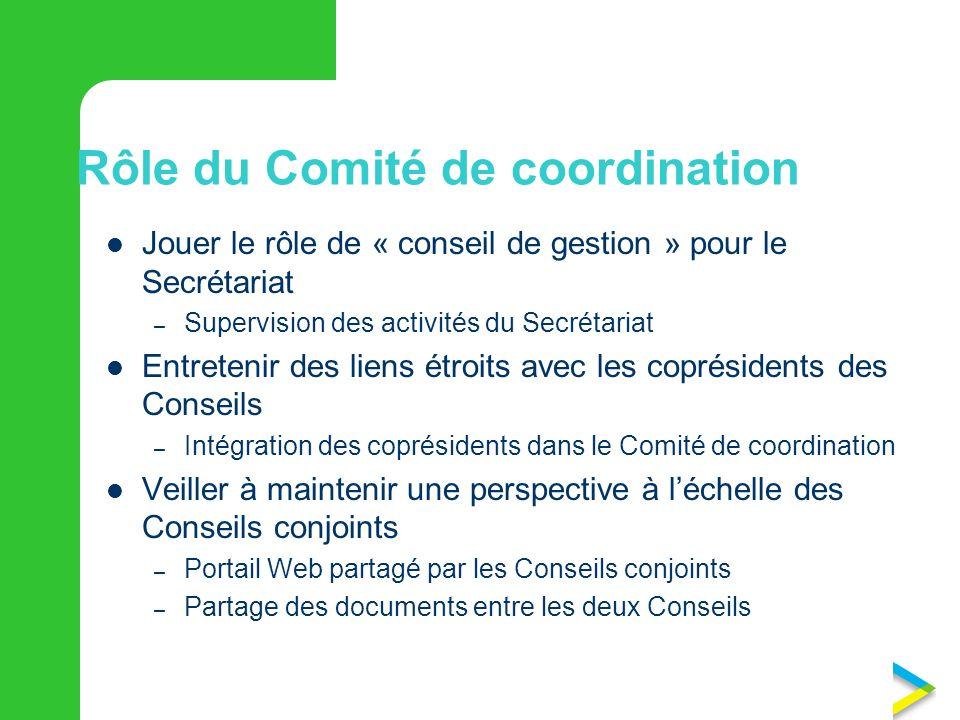 Rôle du Comité de coordination