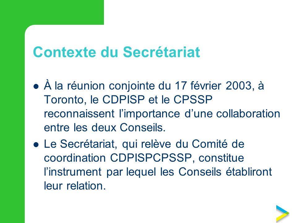 Contexte du Secrétariat