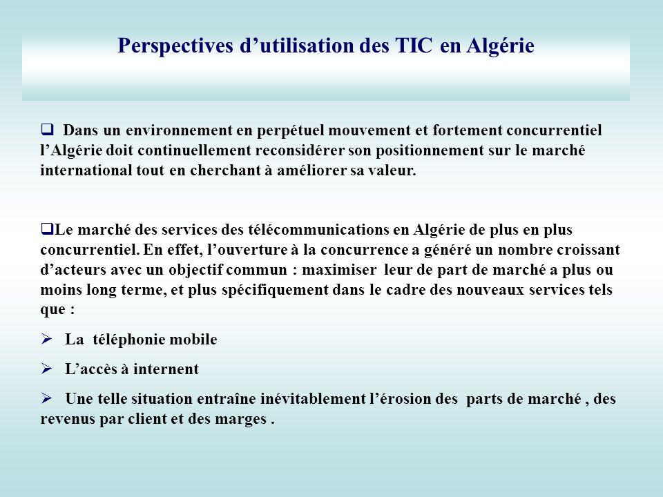 Perspectives d'utilisation des TIC en Algérie