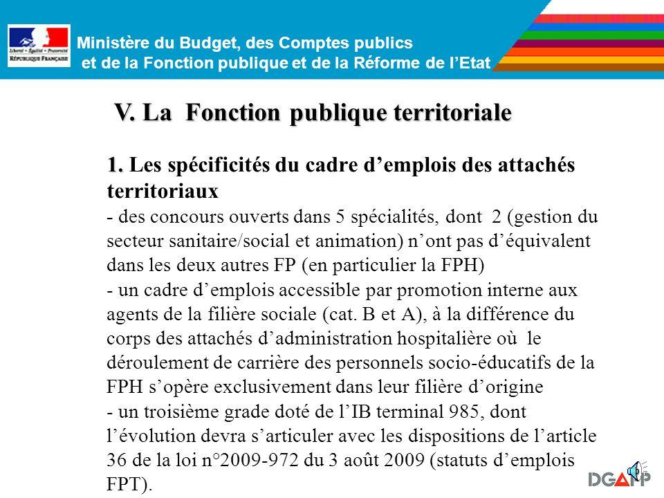 V. La Fonction publique territoriale