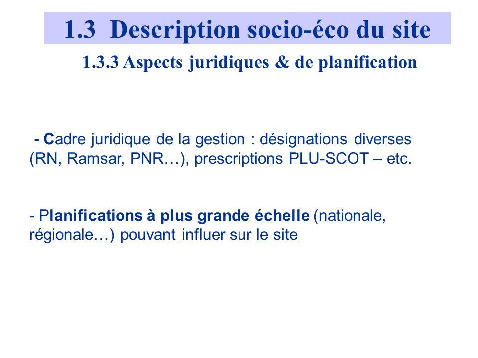1.3 Description socio-éco du site