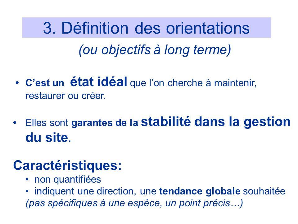 3. Définition des orientations
