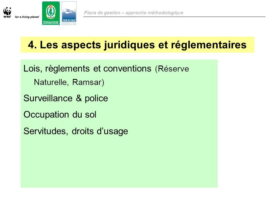 4. Les aspects juridiques et réglementaires