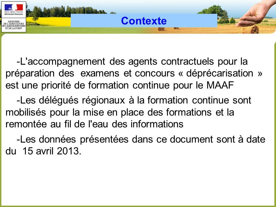 -L accompagnement des agents contractuels pour la préparation des examens et concours « déprécarisation » est une priorité de formation continue pour le MAAF