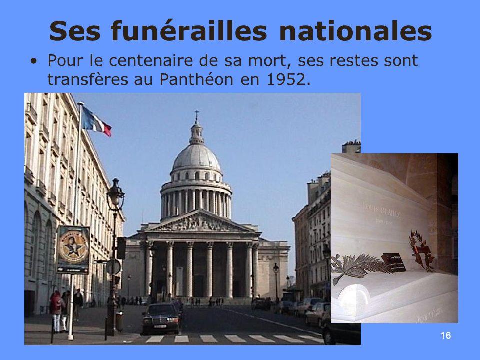 Ses funérailles nationales