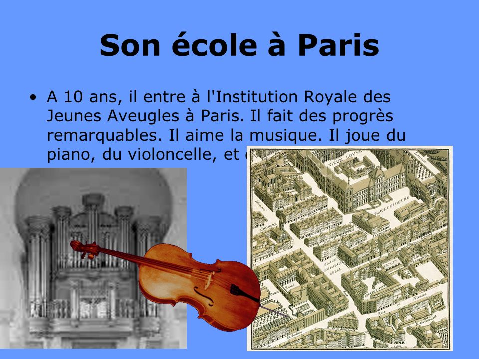 Son école à Paris