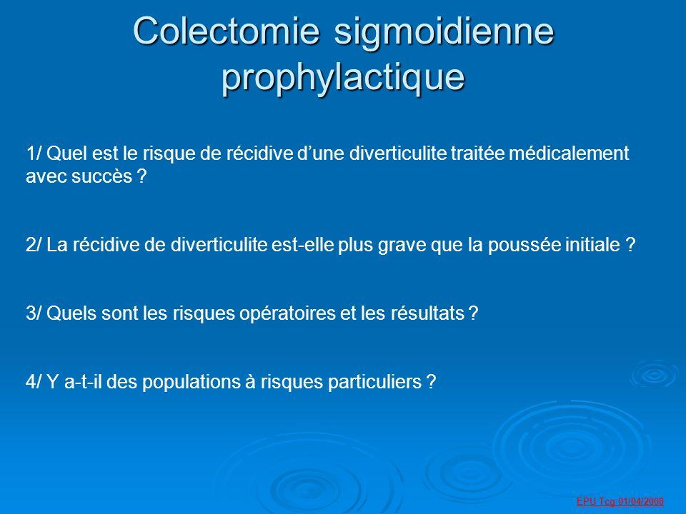 Colectomie sigmoidienne prophylactique