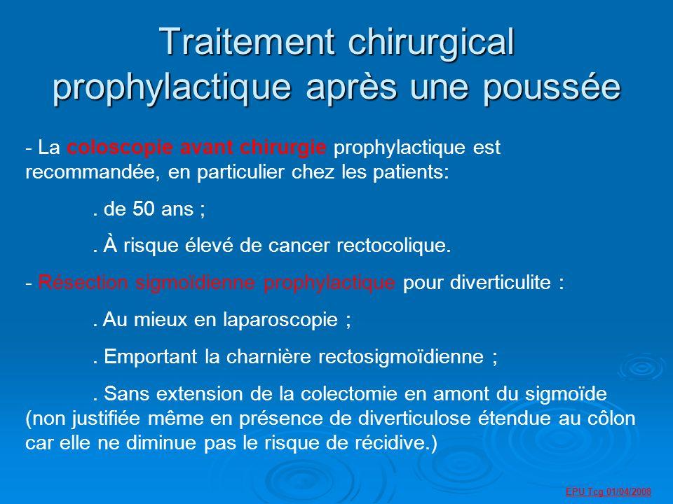 Traitement chirurgical prophylactique après une poussée