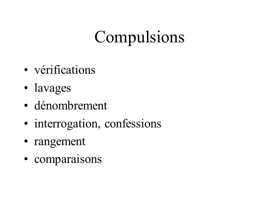 Compulsions vérifications lavages dénombrement