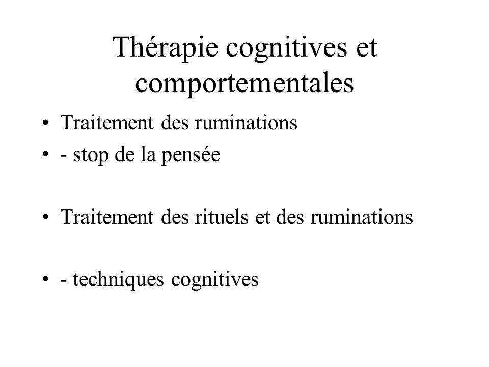 Thérapie cognitives et comportementales