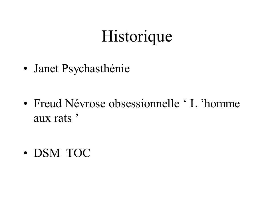 Historique Janet Psychasthénie