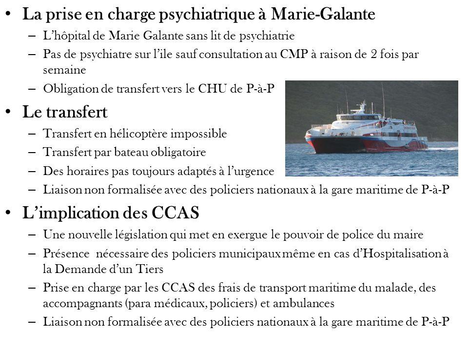 La prise en charge psychiatrique à Marie-Galante