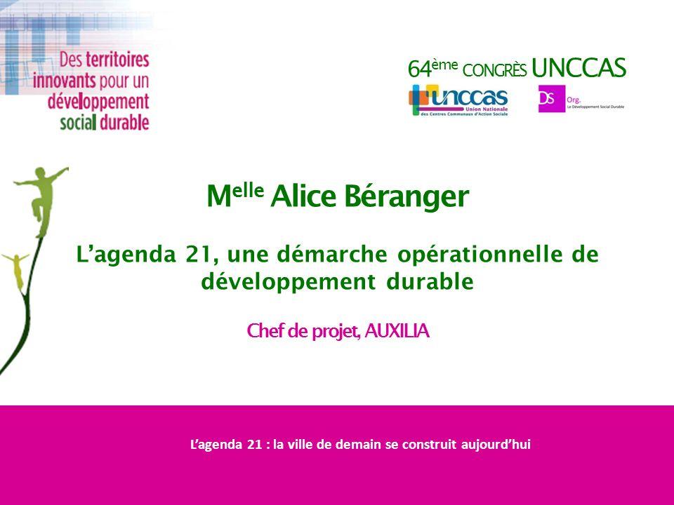 Melle Alice Béranger 64ème congrès UNCCAS