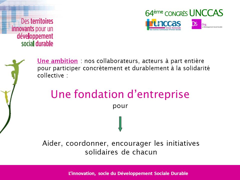 L'innovation, socle du Développement Sociale Durable