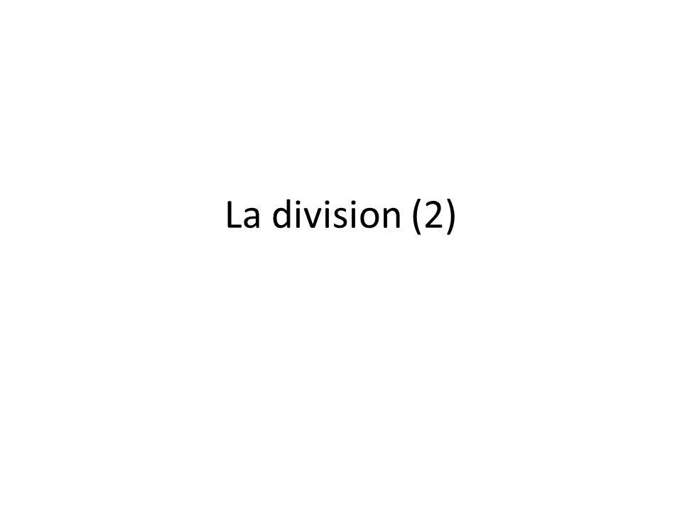 La division (2)