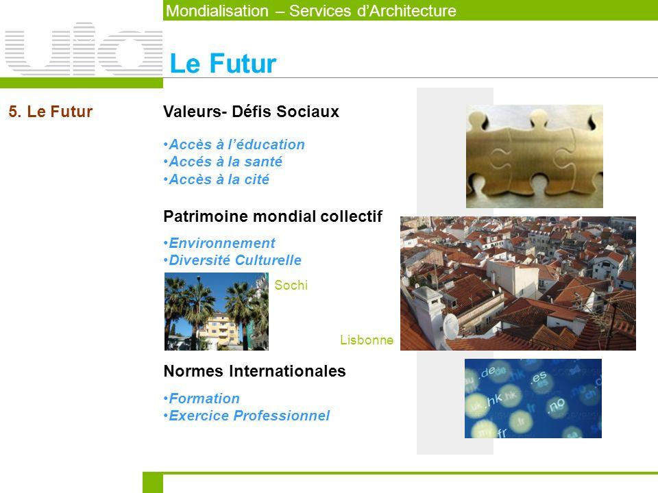 Le Futur Mondialisation – Services d'Architecture 5. Le Futur