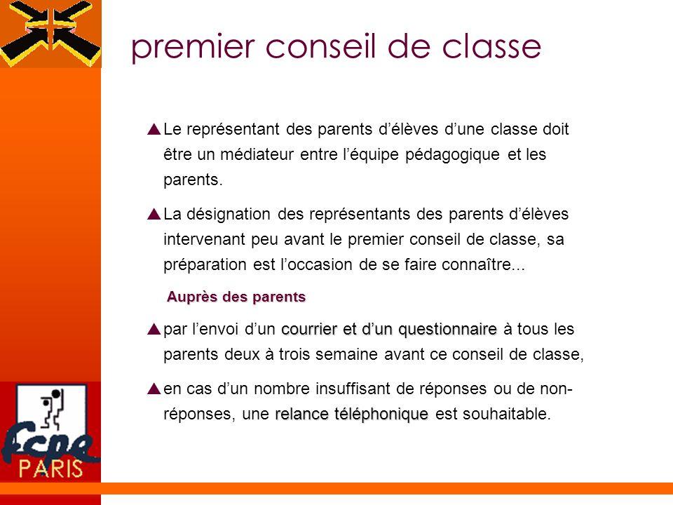 premier conseil de classe
