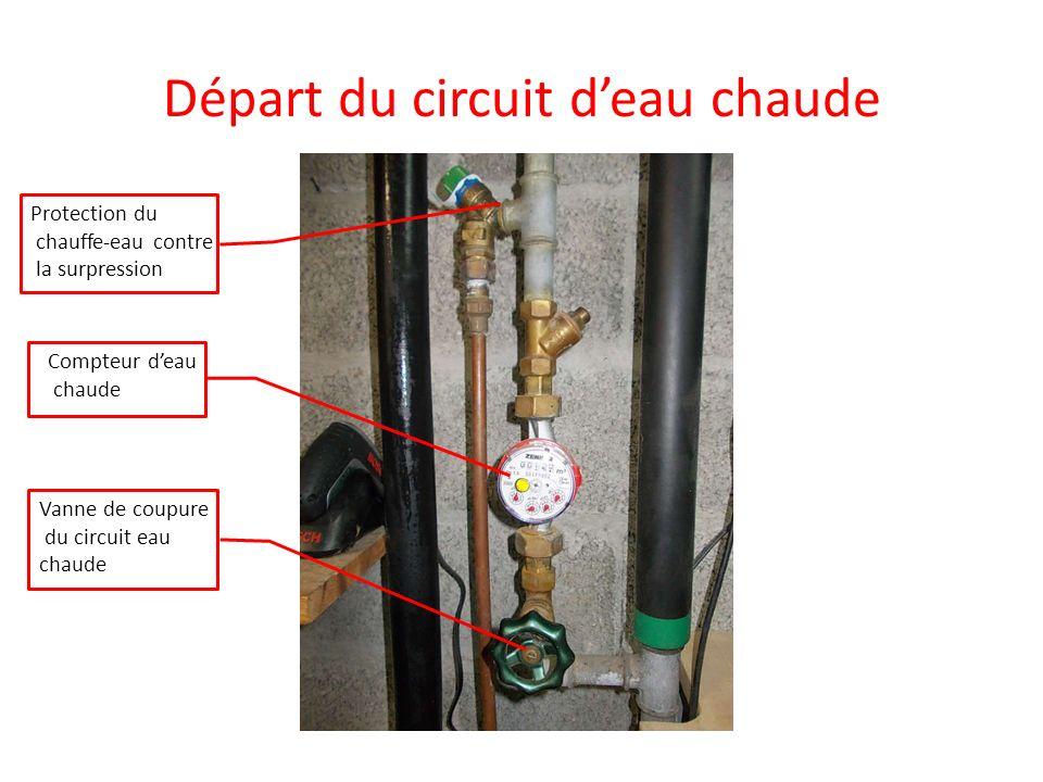 Départ du circuit d'eau chaude