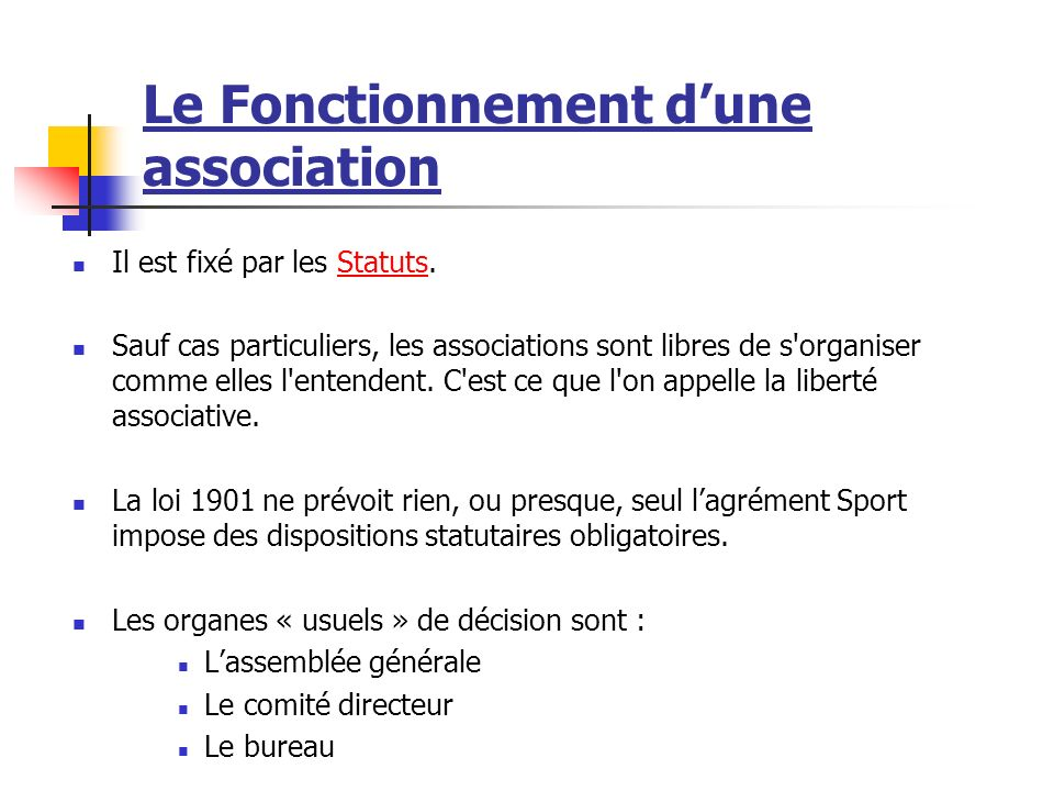 L association d finition de l association ppt video - Renouvellement d un bureau association loi 1901 ...